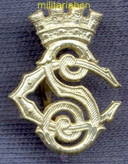 INSIGNIA DE CUELLO DEL CUERPO DE SEGURIDAD. EPOCA II REPÚBLICA. 25 X 19 MM. (Militar - Insignias Militares Españolas y Pins)