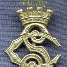 Militaria: INSIGNIA DE CUELLO DEL CUERPO DE SEGURIDAD. EPOCA II REPÚBLICA. 25 X 19 MM.. Lote 36920650