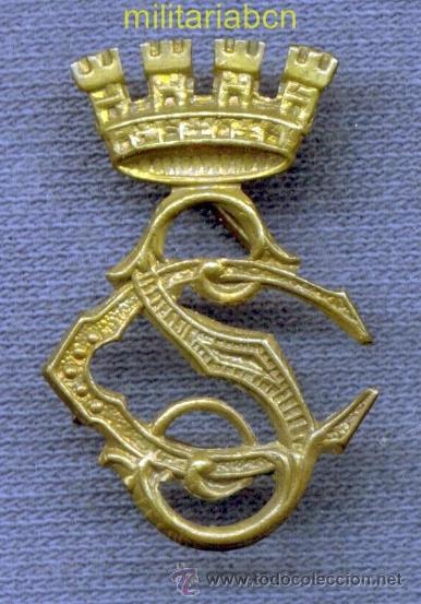 INSIGNIA DE CUELLO DEL CUERPO DE SEGURIDAD. EPOCA II REPÚBLICA. 30 X 20 MM. (Militar - Insignias Militares Españolas y Pins)