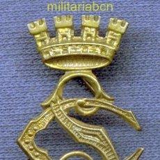 Militaria: INSIGNIA DE CUELLO DEL CUERPO DE SEGURIDAD. EPOCA II REPÚBLICA. 30 X 20 MM.. Lote 36921490