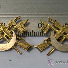 Militaria: INSIGNIA (DOS) DE PERMANENCIA EN CABALLERIA DE REGULARES, EPOCA FRANCO O ANTERIOR, SAHARA. Lote 36405841