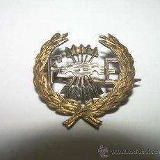 Militaria: ANTIGUA Y RARA INSIGNIA CALADA DE PLATA...LLEVA EN EL DORSO UN CONTRASTE CON LA LETRA P.. Lote 37151359