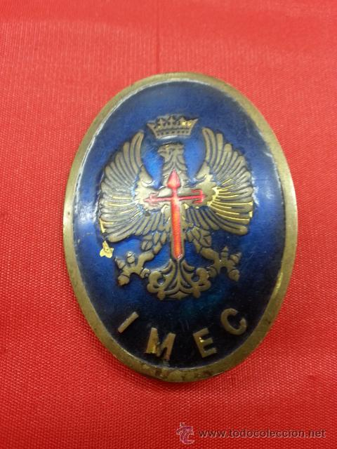 PLACA DE IMEC (Militar - Insignias Militares Españolas y Pins)
