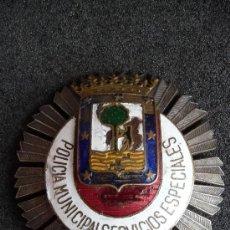 Militaria: (JX-1031)PLACA DE POLICIA MUNICIPAL,SERVICIOS ESPECIALES DE MADRID,REGIMEN ANTERIOR. Lote 38842762