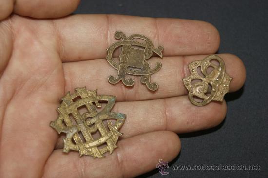 Militaria: Lote de 3 insignias antiguas españolas - Foto 3 - 39303243