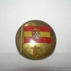 Militaria: ANTIGUA INSIGNIA DE HOJALATA LITOGRAFIADA.. Lote 39308867