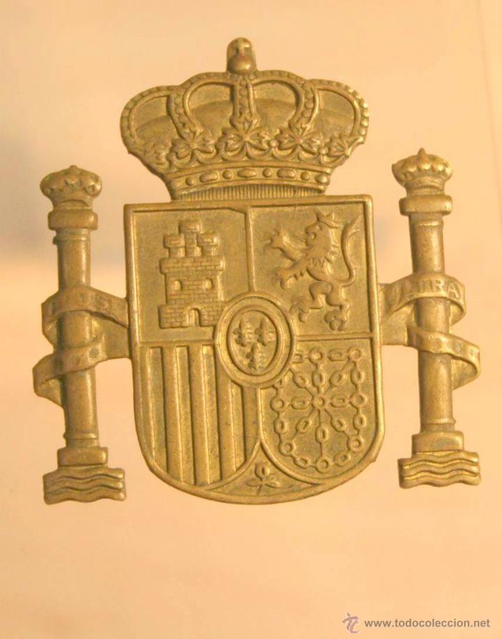 INSIGNIA DE PATILLA DE POLICIA NACIONAL O LOCAL PRINCIPIOS DE LA MONARQUIA. MILITAR (Militar - Insignias Militares Internacionales y Pins)