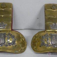 Militaria: 2 ANTIGUAS DRAGONAS PARA UNIFORME, EJERCITO ESPAÑOL, DEL ARMA DE INFANTERIA, EPOCA DE LA II REPUBLIC. Lote 38278612