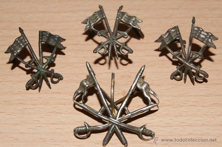 Militaria: Lote de Emblemas de Caballería II República de época Alfonsina de Cuello y Gorra - Foto 2 - 41622654