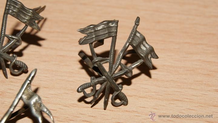 Militaria: Lote de Emblemas de Caballería II República de época Alfonsina de Cuello y Gorra - Foto 9 - 41622654