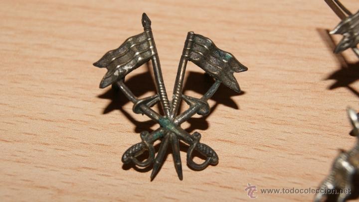 Militaria: Lote de Emblemas de Caballería II República de época Alfonsina de Cuello y Gorra - Foto 10 - 41622654