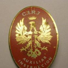 Militaria: PLACA INSIGNIA DEL CIR Nº 7. AUXILIAR DE INSTRUCCIÓN.. Lote 41968574