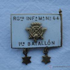 Militaria: MEDALLA ESPAÑOLA REGIMIENTO INFANTERIA. 1ER BATALLÓN Nº 64.. Lote 42278708