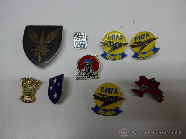 LOTE DE PINS MILITARES ANTIGUOS (Militar - Insignias Militares Españolas y Pins)