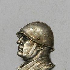 Militaria: BUSTO DE MUSOLINI CON ALFILER POR EL REVERSO, MIDE 2,9 CMS.. Lote 42521316