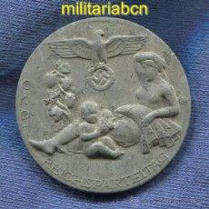 Militaria: ALEMANIA III REICH. INSIGNIA REICHSPARTEITAG 1939. ALUMINIO. MARCADA.. Lote 42761769