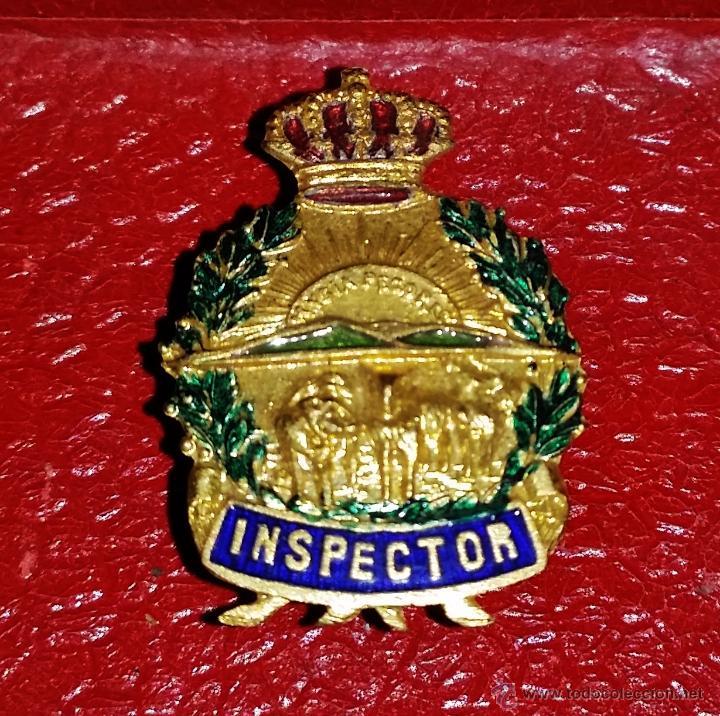 INSIGNIA DE SOLAPA EPOCA DE ALFONSO XIII GRAN CALIDAD INSPECTOR O INSPECTORES (Militar - Insignias Militares Españolas y Pins)