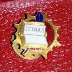 Militaria: INSIGNIA DE SOLAPA EPOCA DE ALFONSO XIII ACADEMIA DE LAS LETRAS. Lote 43119902