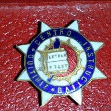 Militaria: INSIGNIA DE SOLAPA ESMALTADA,REPUBLICA CENTRO INSTRUCTIVO DE GUITIRIZ ARTES Y LETRAS. Lote 43122564