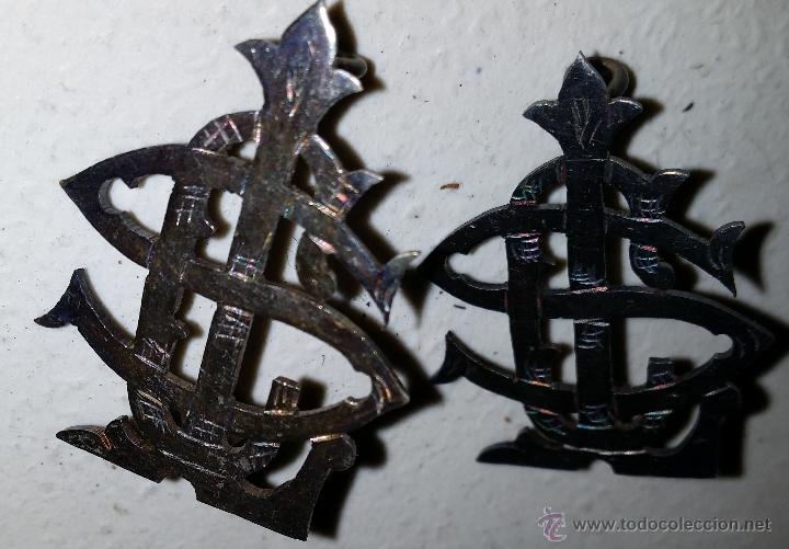 LETRA O DISTINTIVO DE CUELLO EPOCA ALFONSO XIII-REPUBLICA (Militar - Insignias Militares Españolas y Pins)