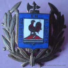Militaria: INSIGNIA MILITAR DE LATÓN Y ESMALTE . Lote 43191228