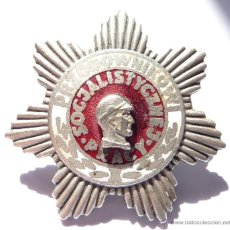 Militaria: POLONIA: PLACA MÉRITO CAPATAZ DEL TRABAJO SOCIALISTA. CATEGORIA PLATA. DISTINTIVO LABORAL. Lote 43850380