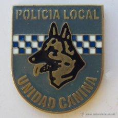 Militaria: INSIGNIA METÁLICA DE FUNCIÓN / CURSO ESPECIALIDAD UNIDAD CANINA POLICÍA LOCAL K9 . Lote 95698682