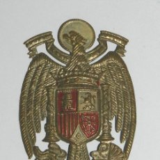 Militaria: BONITO EMBLEMA METALICO CON AGUILA DE FRANCO, MIDE 7 X 4,7 CMS. Lote 43999360