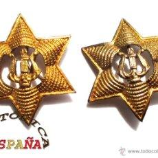 Militaria: ESTRELLAS GRANDES DE MUSICOS 2,5 CM DE ANCHO. Lote 44062406