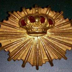 Militaria: DISTINTIVO PARA GORRA DE CARABINEROS DE ALFONSO XIII. Lote 44135718