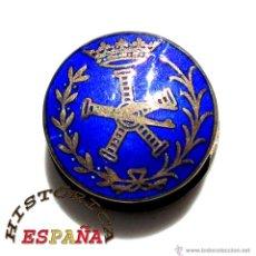 Militaria: INSIGNIA SOLAPA INGENIERO AERONÁUTICO EN PLATA DE LEY Y ESMALTES. Lote 44244909