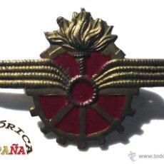 Militaria: INSIGNIA DISTINTIVO CUERPO DE TRENES, REPÚBLICA - 4 CM DE LARGO. Lote 44426024