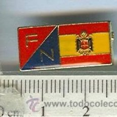 Militaria: INSIGNIA DE ALFILER FUERZA NUEVA, AGUILA IMPERIAL. Lote 45026602