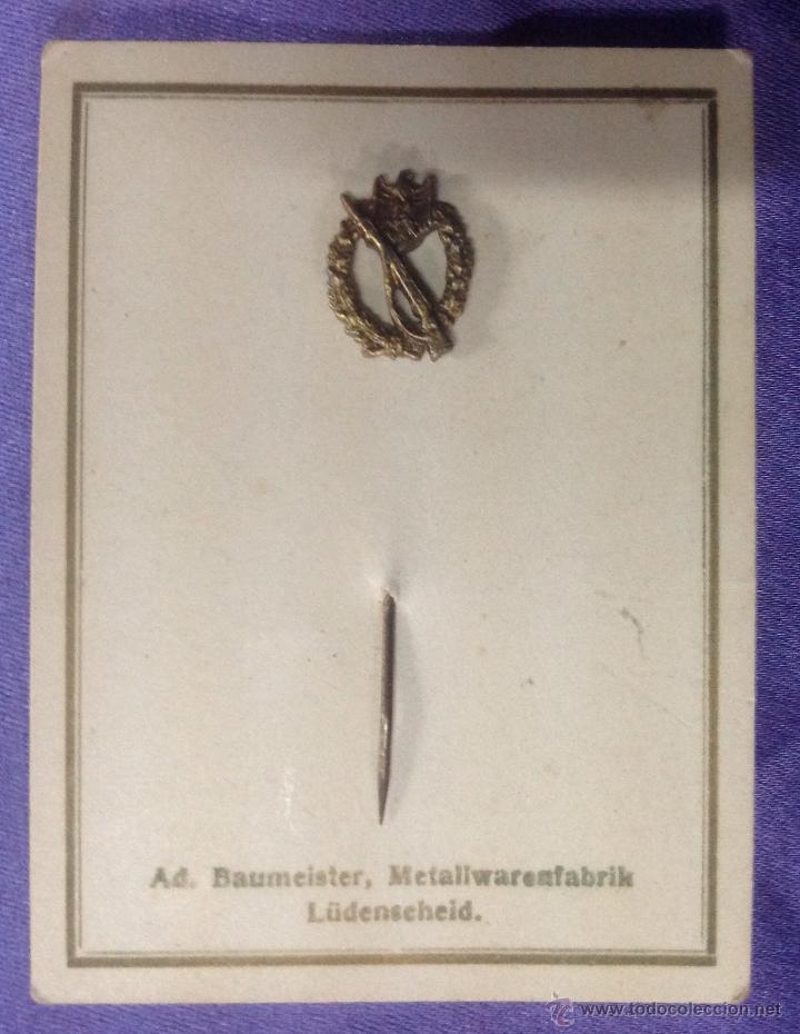 ALFILER DE LA PLACA DE ASALTO DE INFANTERÍA, WEHRMACHT (Militar - Insignias Militares Extranjeras y Pins)