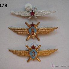 Militaria: LOTE 3 INSIGNIA S SOVIÉTICA S, PILOTO 3ª, PILOTO BOMBARDERO 3ª, MECÁNICO VUELO. ENVÍO GRATUITO.. Lote 45603333