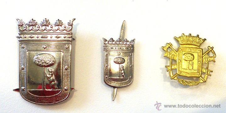 ESCUDOS AYUNTAMIENTO DE MADRID (Militar - Insignias Militares Españolas y Pins)