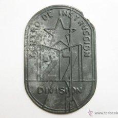 Militaria: PLACA O EMBLEMA REPUBLICANO DE ZINC DEL CENTRO DE INSTRUCCION DE LA 27 DIVISION - GUERRA CIVIL. Lote 46442839