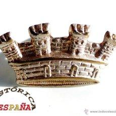 Militaria: CORONA PLATEADA REPÚBLICA, 2,7 CM DE LARGO. Lote 47587799