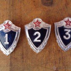 Militaria: 3 INSIGNIAS RUSAS, EJERCITO ROJO,CCCP,URSS ANTIGUAS 100% ORIGINAL DE LA EPOCA. Lote 47610911
