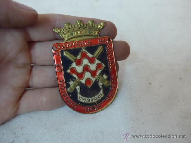 ANTIGUA PLACA DE BRAZO DE DIVISION INFANTERIA GERONA 41, GIRONA (Militar - Insignias Militares Españolas y Pins)