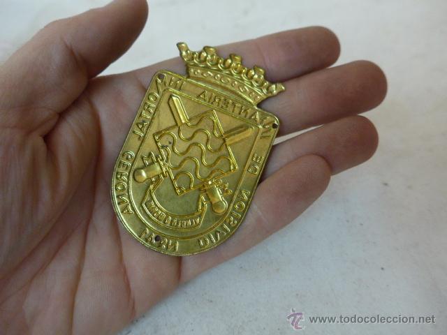 Militaria: Antigua placa de brazo de division infanteria gerona 41, girona - Foto 2 - 47685733