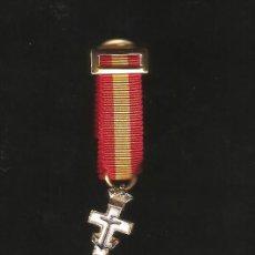 Militaria: CRUCECITA MTO.NAVAL BLANCA CON PASADOR MINI. Lote 97894708