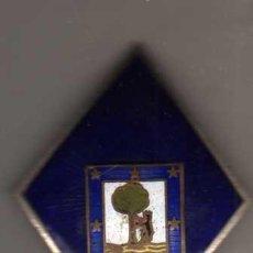 Militaria: INSIGNIA ESMALTADA ESCUDO DE MADRID 7 CM OSO Y MADROÑO. Lote 47818196
