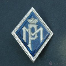 Militaria: ROMBO POLICIA MUNICIPAL.-TAL COMO SE OBSERVA.- EN VEZ ESMALTE ES PLASTIFICADO AZUL.-. Lote 48020635