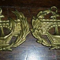 Militaria: DISTINTIVOS DE CUELLO DE ALFONSO XIII- REPUBLICA,DE INGENIEROS DE PUERTOS Y CANALES. Lote 48317170