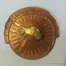 Militaria: PLACA DE CONDUCTOR DE CARABINEROS, SIN TERMINAR. Lote 48778568