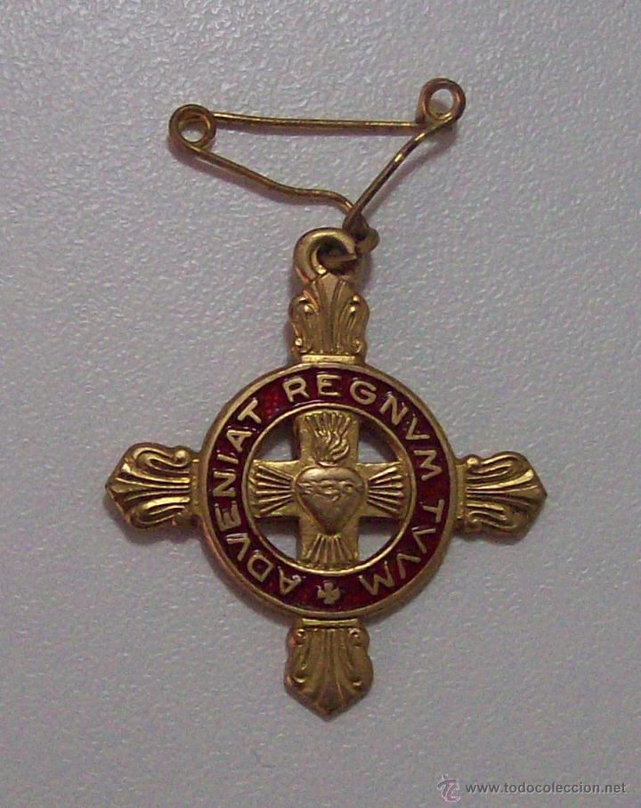 DETENTE ENEMIGO EL CORAZON DE JESUS ESTA CONMIGO (Militar - Insignias Militares Españolas y Pins)