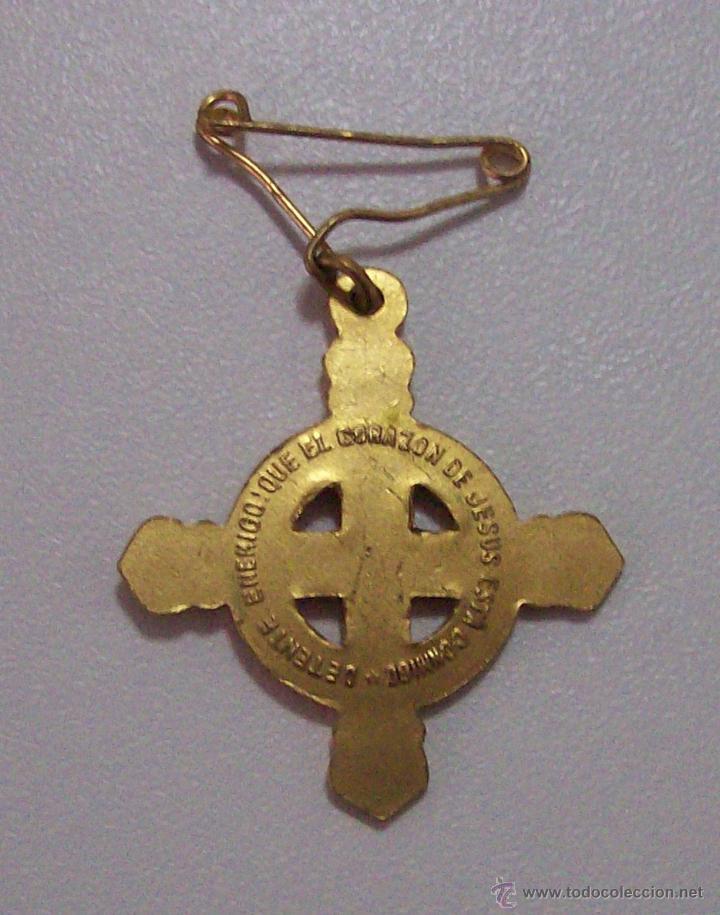 Militaria: DETENTE ENEMIGO EL CORAZON DE JESUS ESTA CONMIGO - Foto 2 - 48916653