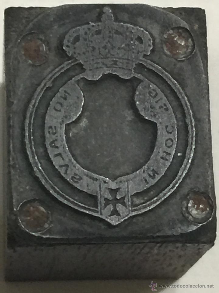 Militaria: Antigua Orden de la Cruz Roja, inscriIpcion IN HOG SIGNO SALUS. Sello, plancha o tampon de imprenta - Foto 4 - 48925485