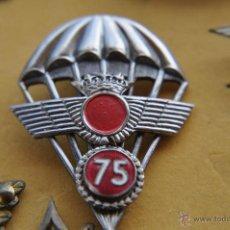 Militaria: AVIACION, DISTINTIVO DE PARACAIDISTA 75 SALTOS.. Lote 48943837